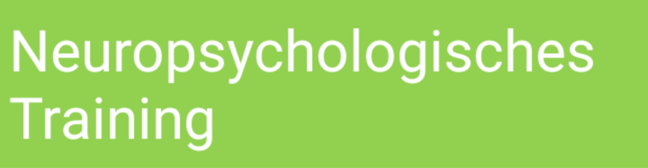 Neuropsychologisches Training